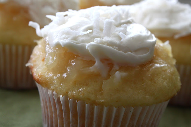 ... : Pineapple-Coconut Cupcakes with Buttermilk-Cream Cheese Frosting