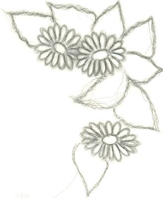 desenho de flores para pintura tecido