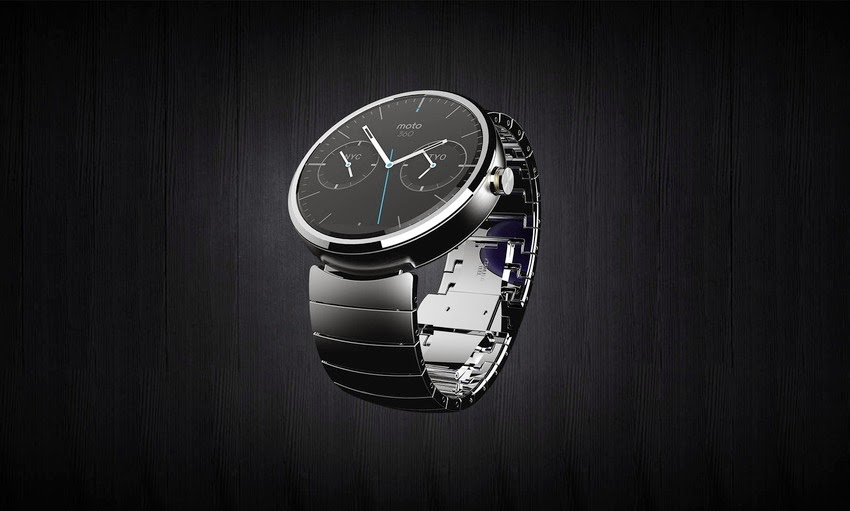 Moto 360 Wrist Watch by Android Wear steel