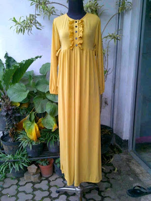 Gamis Jersey Kuning Soft