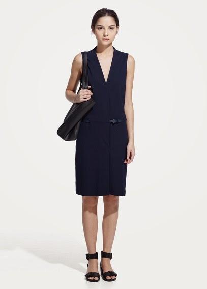 Mango 2015 Elbise Modelleri  v yaka, lacivert kısa elbise, ofis elbisesi, klasik kesim elbise,