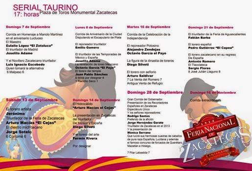 Serial Taurino Feria Nacional Zacatecas 2014
