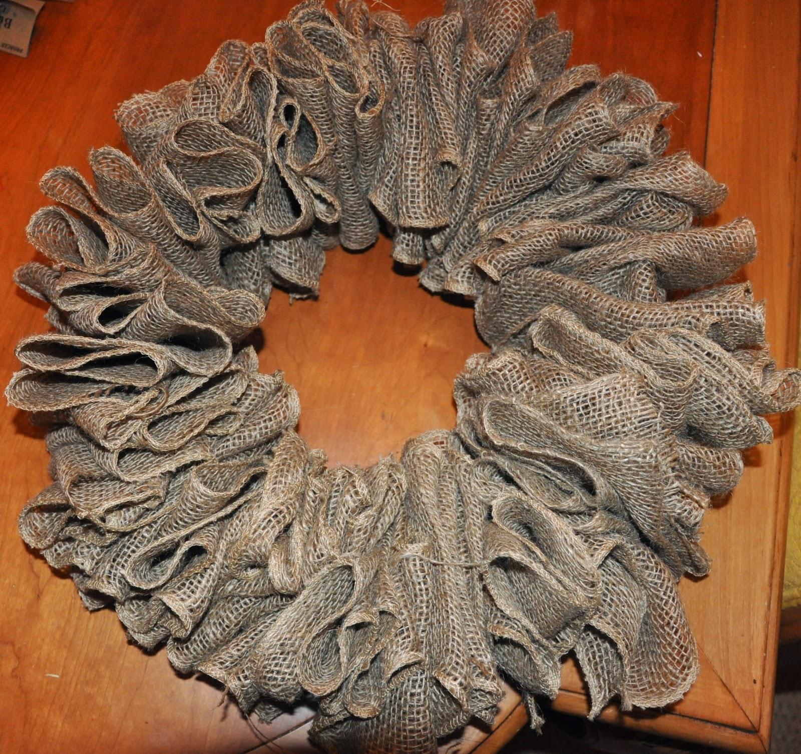 Ribbon wreath tutorial on wire hanger - Thursday September 22 2011