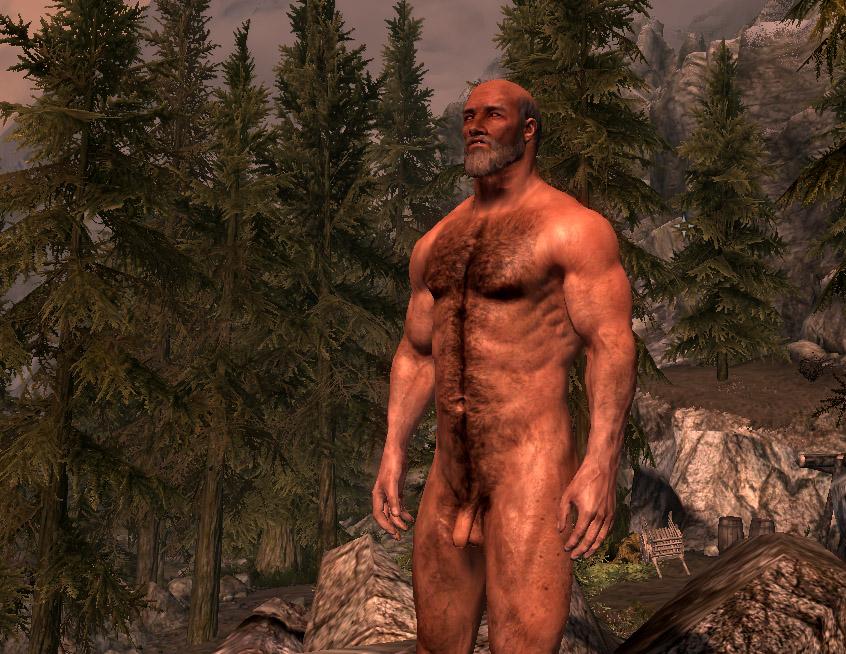 mod Skyrim male nude