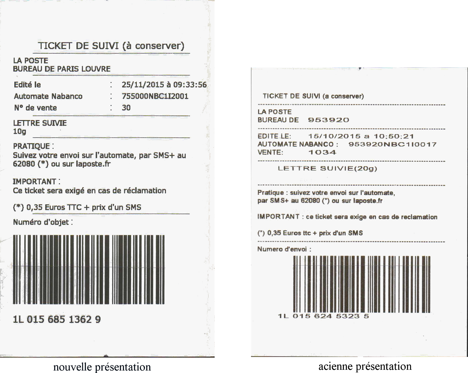 Suivi courrier international for Suivi courrier demenagement la poste