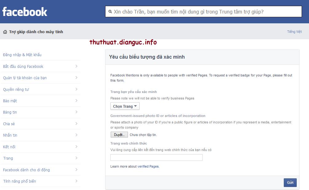 Hướng dẫn xác minh cho Facebook cá nhân và fanpage người nổi tiếng