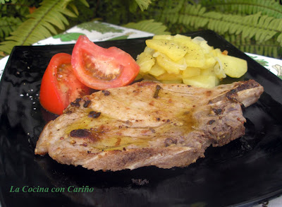 Chuletas De Cerdo A La Mostaza