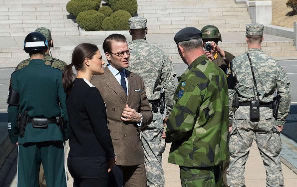 Princess Victoria and Prince Daniel visited Korean Demilitarized Zone