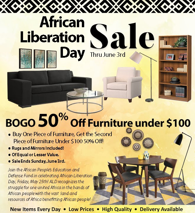 BOGO 50% Off Furniture under $100!