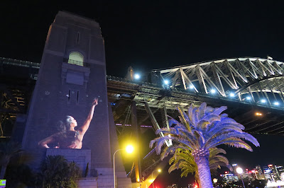 Sydney Vivid Lights Harbour Bridge 2015