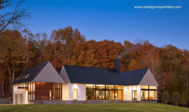 Residencia contemporánea de campo en Virginia, Estados Unidos