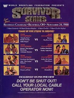 WWE SURVIVOR SERIES 1988 - EVENT POSTER
