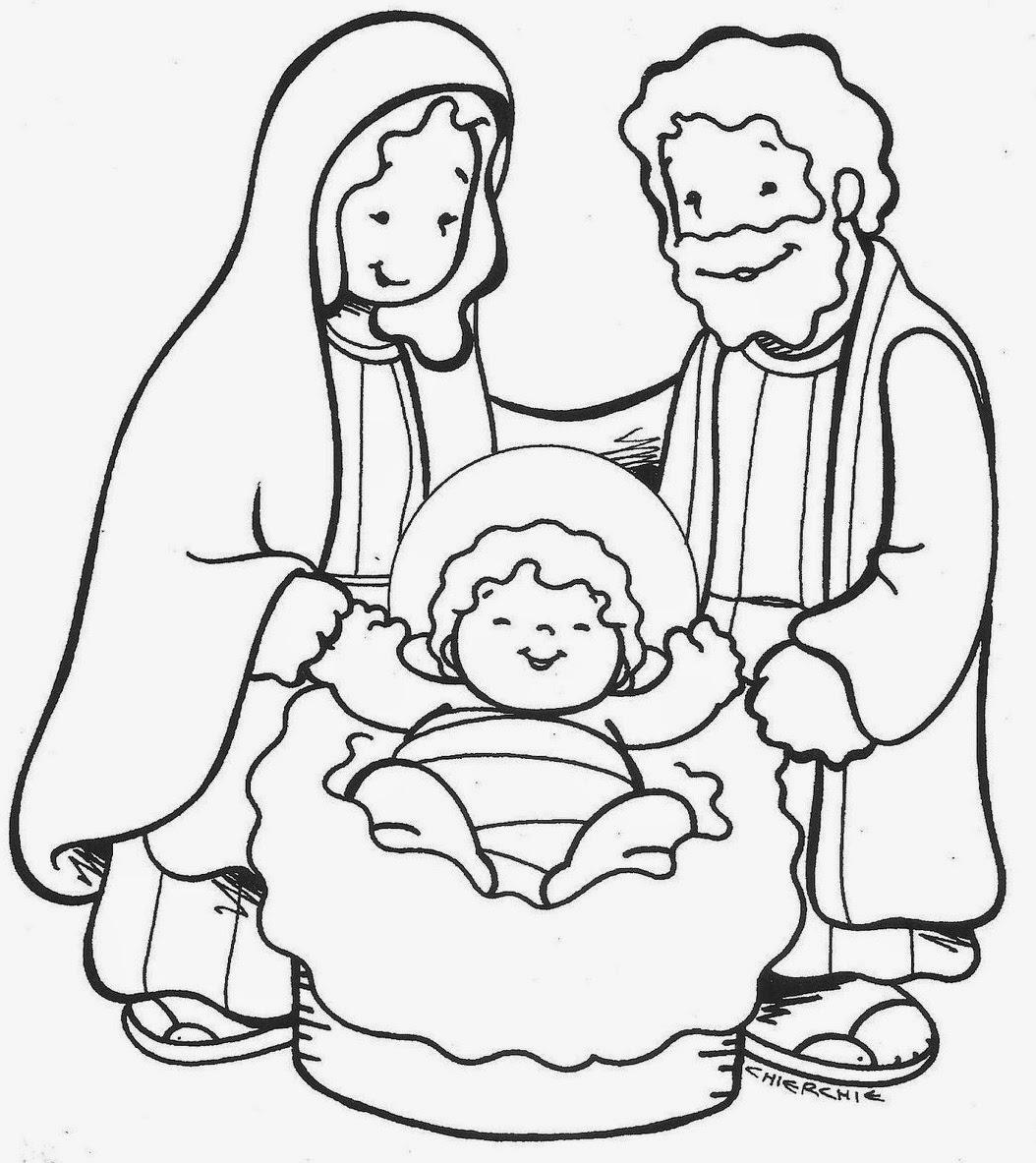 Imágenes de Navidad para colorear ~ Dibujos para Niños