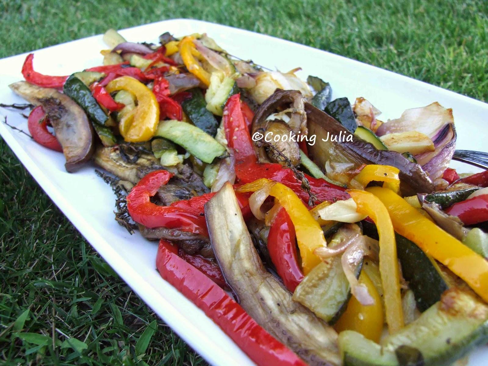 Cooking julia l gumes proven aux grill s au four - Recette legumes grilles au four ...