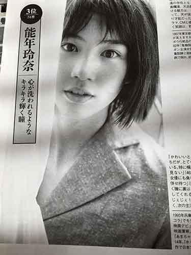 戦後で最も美しい女優」のランキング3位能年玲奈