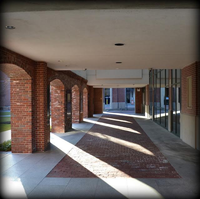 Salem Armory, Salem, Massachusetts, archway, shadows