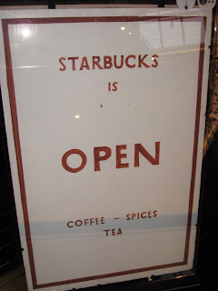 sign from the first Starbucks at Museum of History and Industry