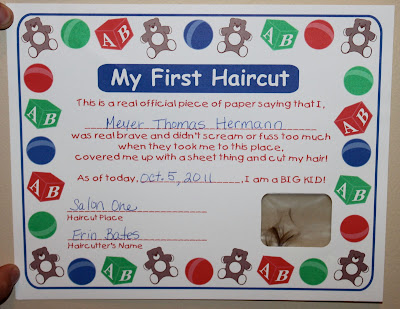 Nice First Haircut Certificate Template Adornment Resume Ideas My