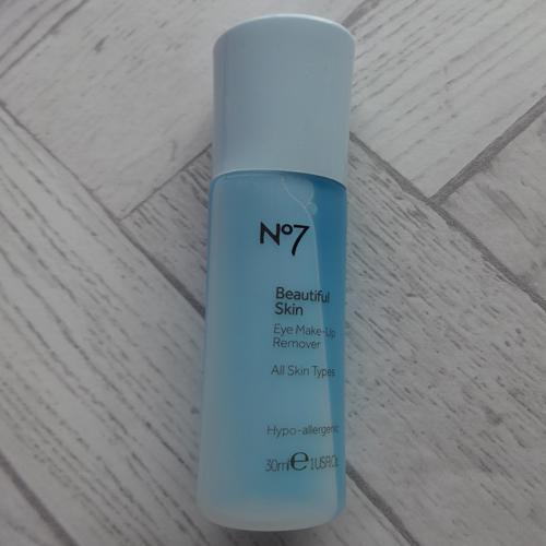 No7 beautiful skin eye makeup remover