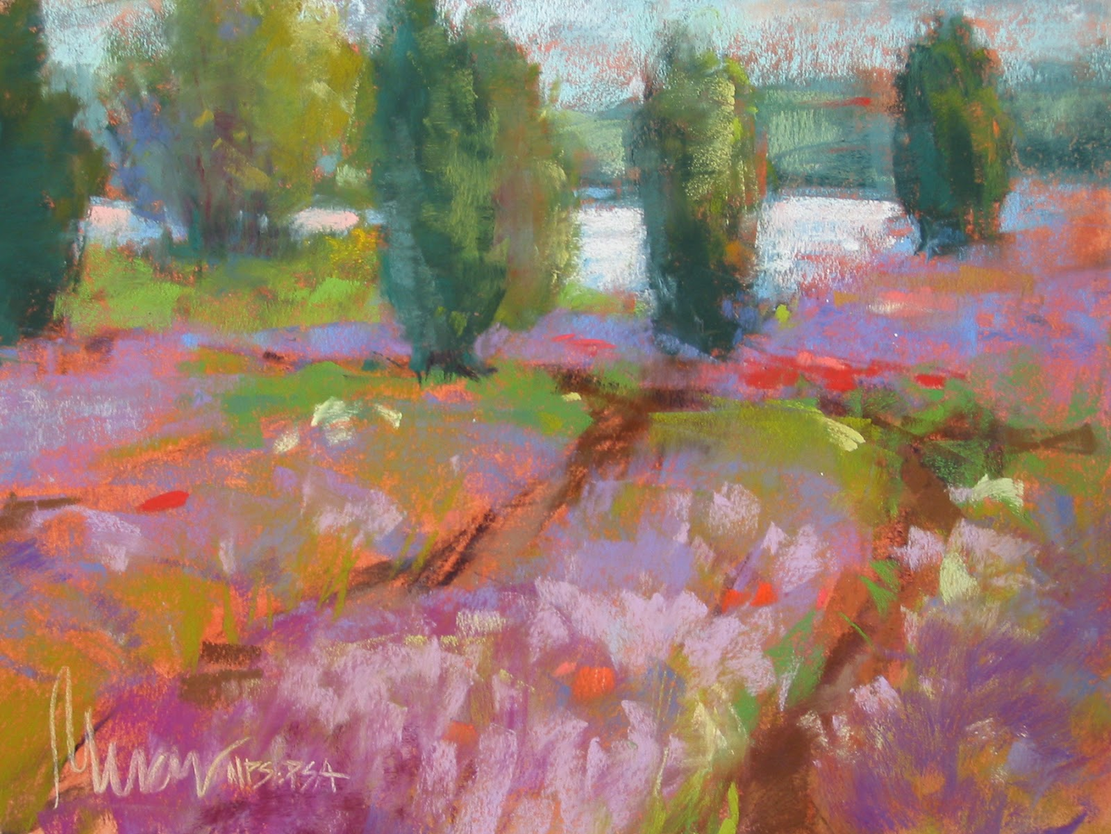 Pat Meras Pastel Paintings: PAT MERAS, PASTEL LANDSCAPE ...