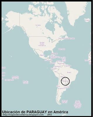 Ubicacion de PARAGUAY en America, OpenStreetMap