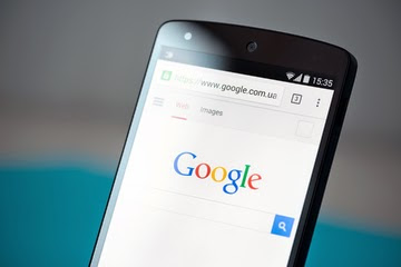 A smartphone screen depicting the Google Search main page.