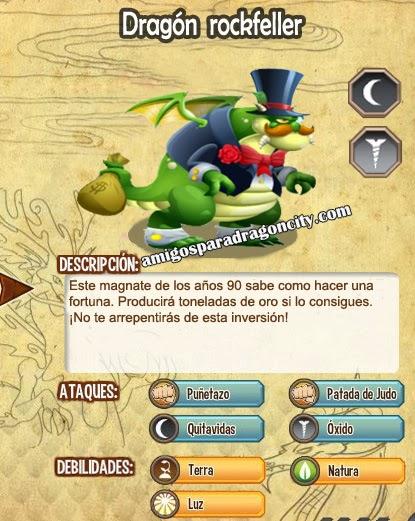 imagen de las caracteristicas del dragon rockfeller