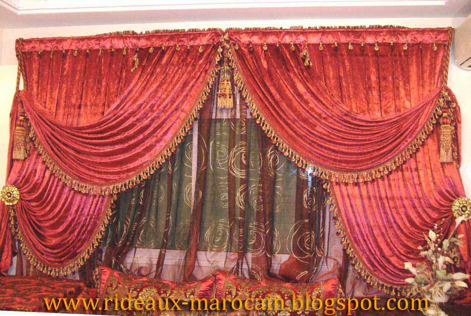 rideaux marocain double rideau fen tre. Black Bedroom Furniture Sets. Home Design Ideas