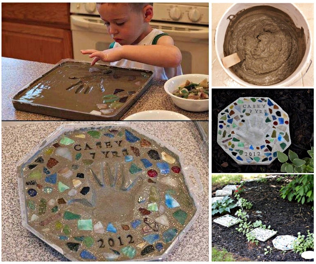 DIY Cement Stepping Stone