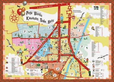 Peta Bisnis Kawasan Solo Baru