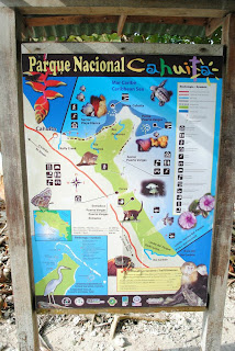 Map National Park Cahuita in Costa Rica