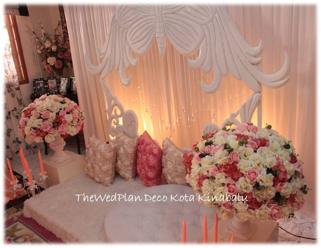 Butterfly Mini Pelamin Thanks Amy And Kak Erna For Hiring Us Looking Forward To Work With U Again Soon XOXO
