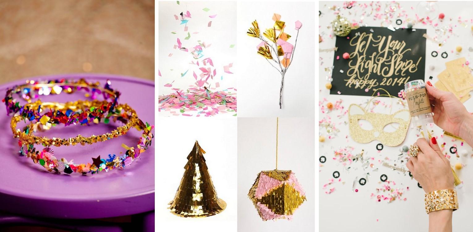 Confetti para decorar adornos de los invitados