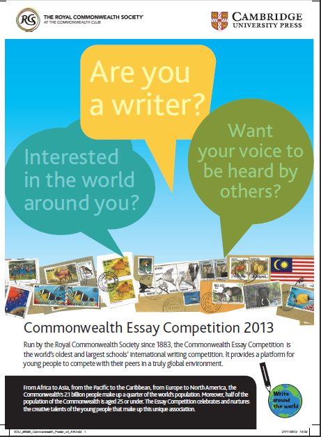 royal commonwealth society essay competition 2013 results