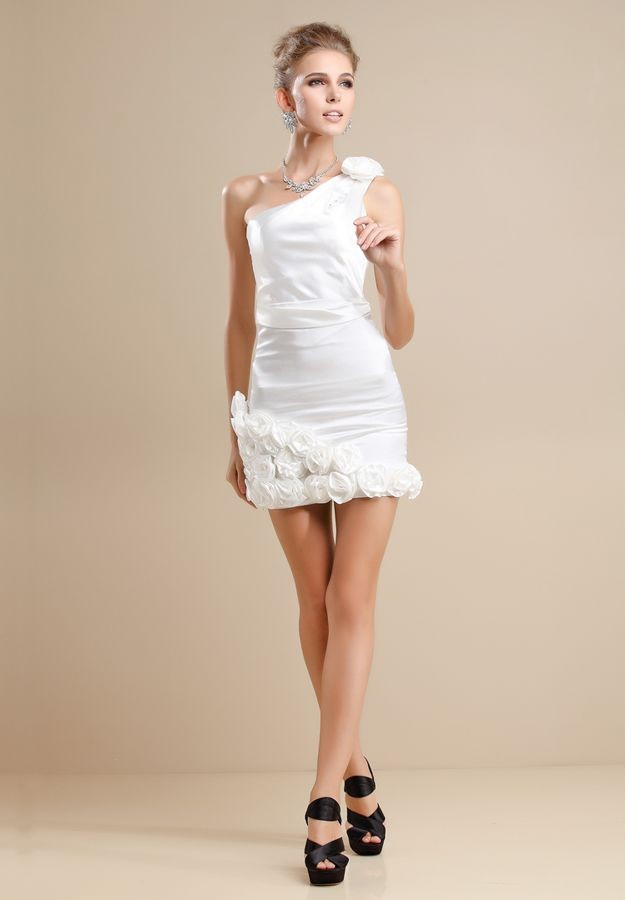 White Cocktail Dresses For Wedding Reception 55