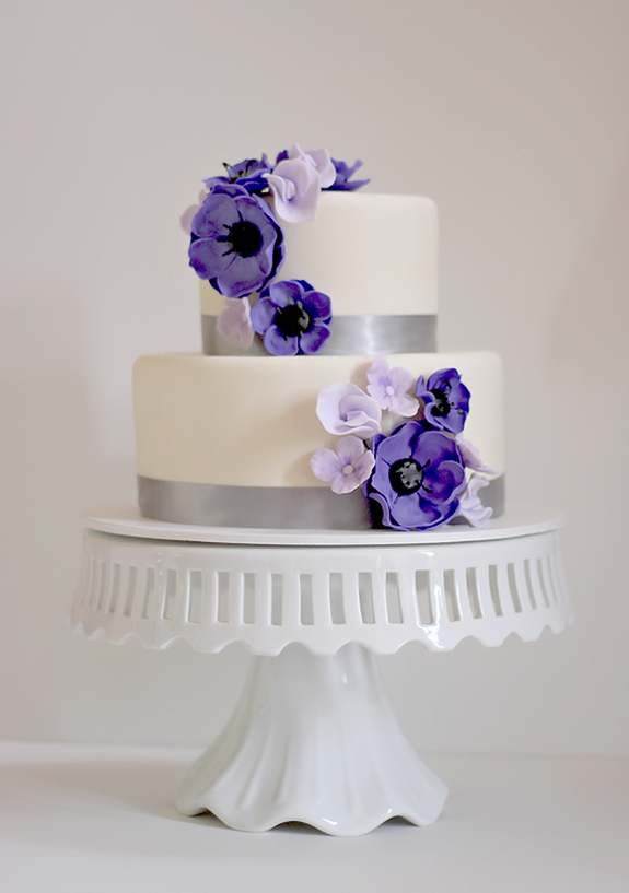 Danielle & Christopher\'s Purple Anemone Wedding Cake | The Couture ...
