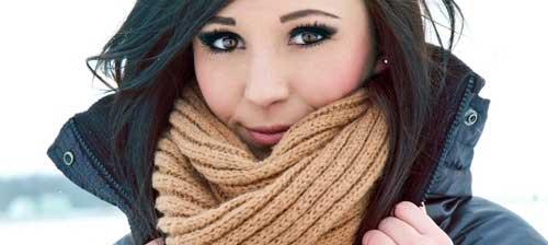 bufanda para tener los labios bonitos en invierno