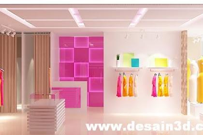 Jasa desain interior butik harga murah hasil mewah