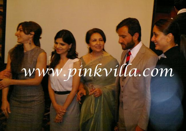 Everyone standing together at the memorial -  Saif Ali Khan &Kareena Kapoor at the Pataudi memorial