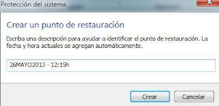 Cómo crear un punto de restauración Windows 7 - Paso 4
