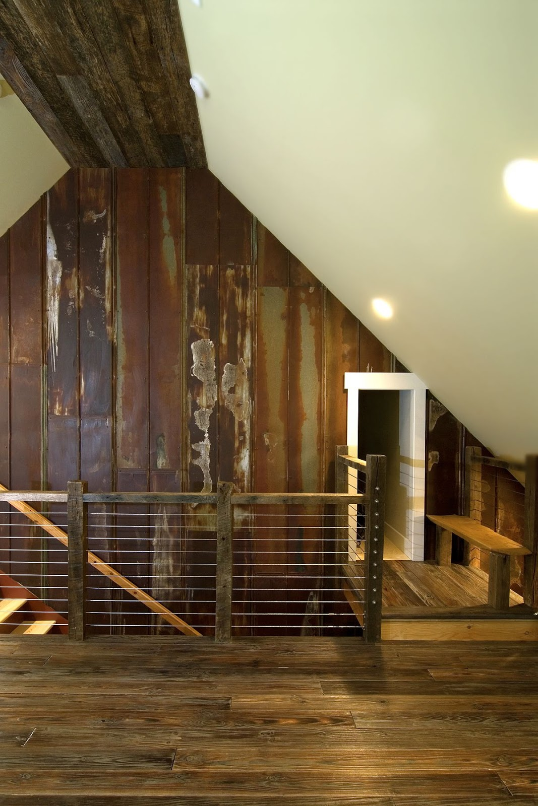 rusted barn tin ceiling - photo #15