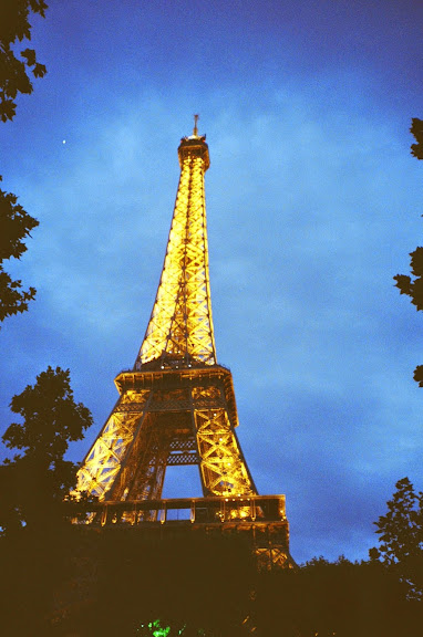 Paris Eiffel Tower film photography