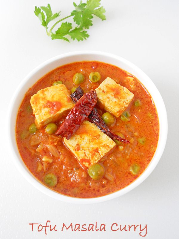 tofu masala curry