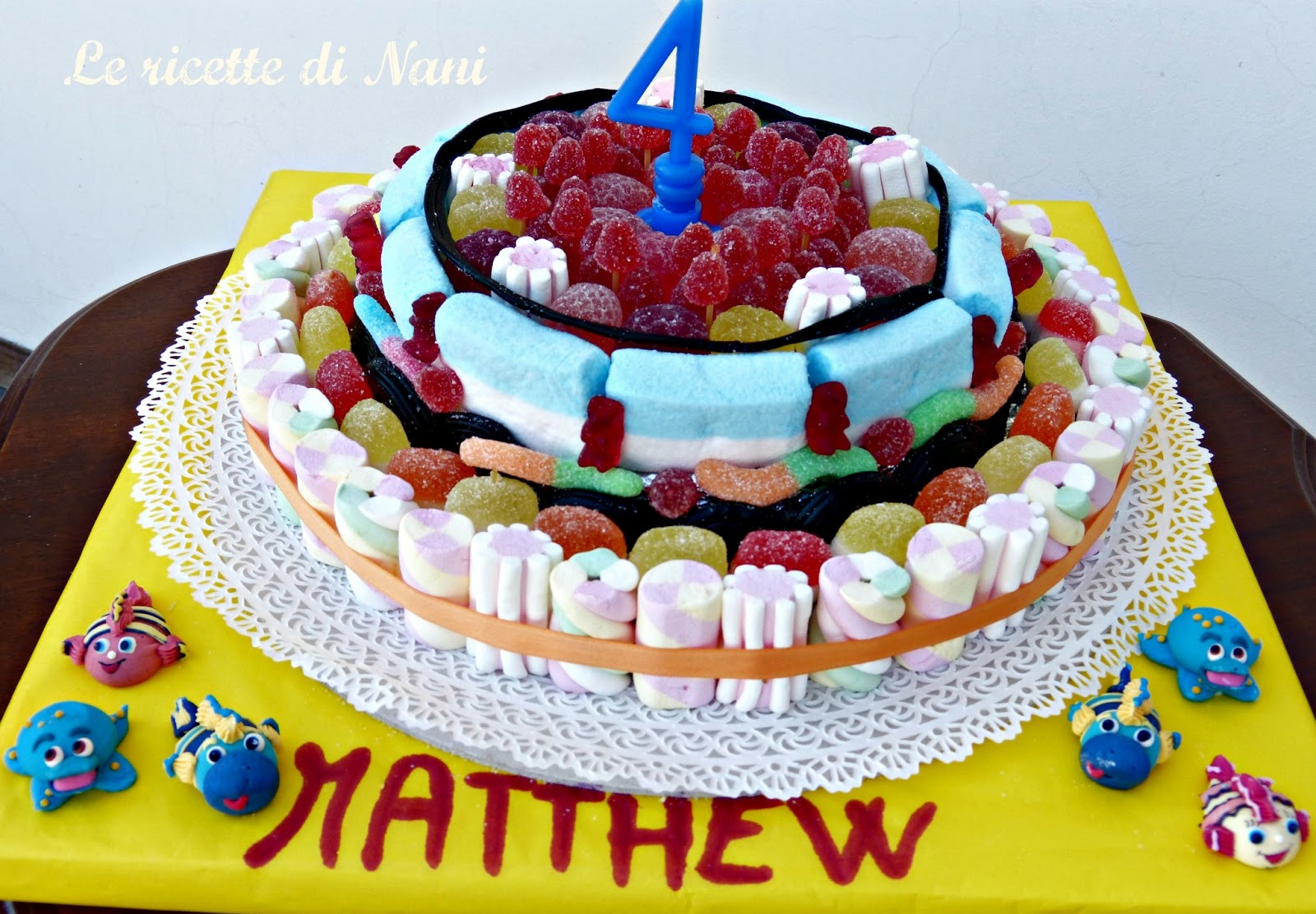 Le ricette di nani una coloratissima torta di caramelle - Casa di caramelle ...
