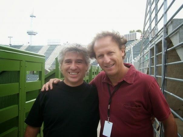 Con Martin Jaite ( Director del ATP Bs As y ex Capitan de Copa Davis)