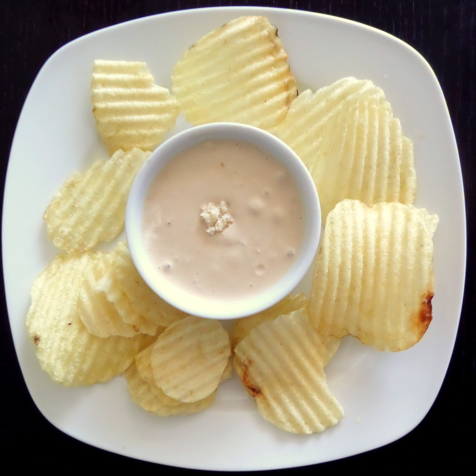 Beefy Horseradish Dip:  Spicy and pungent horseradish mixed with beef bullion and sour cream for a delicious chip dip.