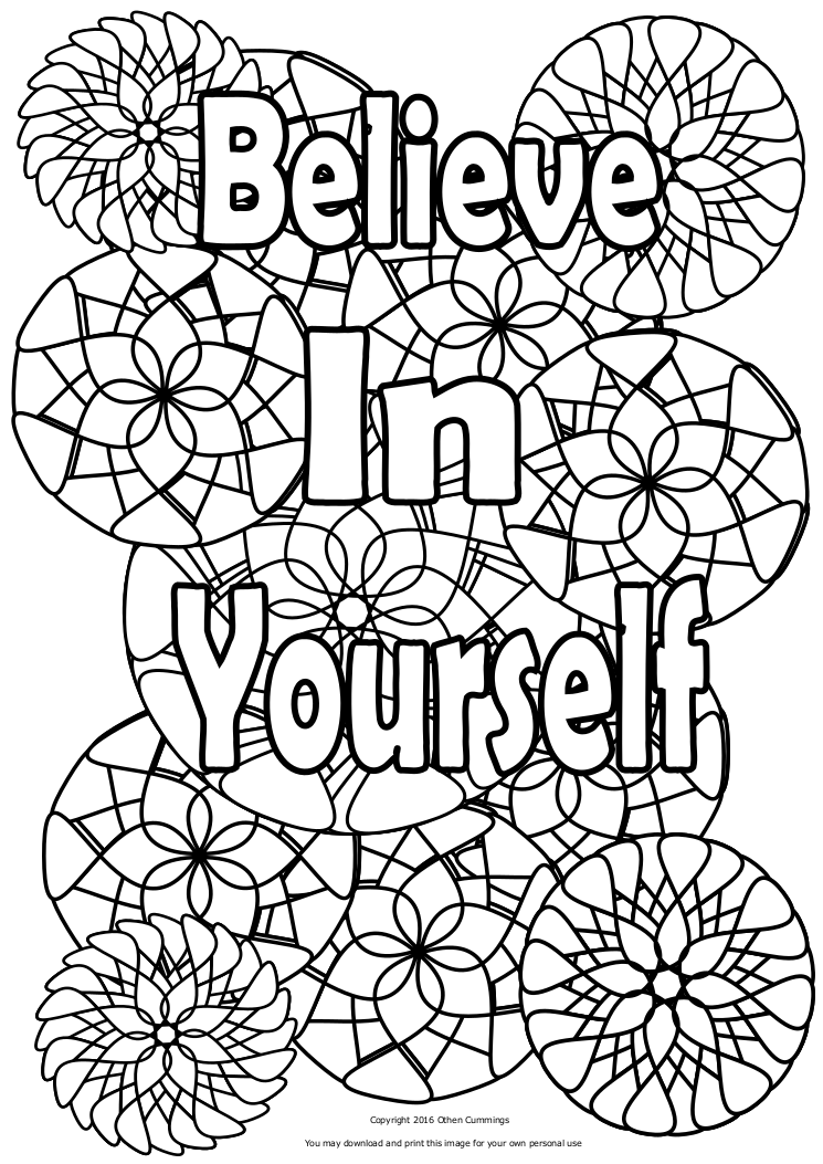 I M Coloring Presents Believe In Yourself An Inspirational Adult Book Volume 2