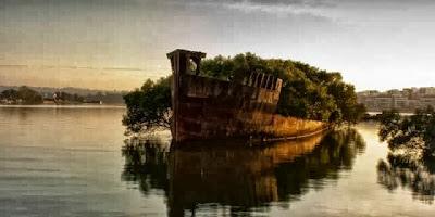 Barco abandonado en Australia