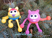 развивающие вязаные коты - crochet cats