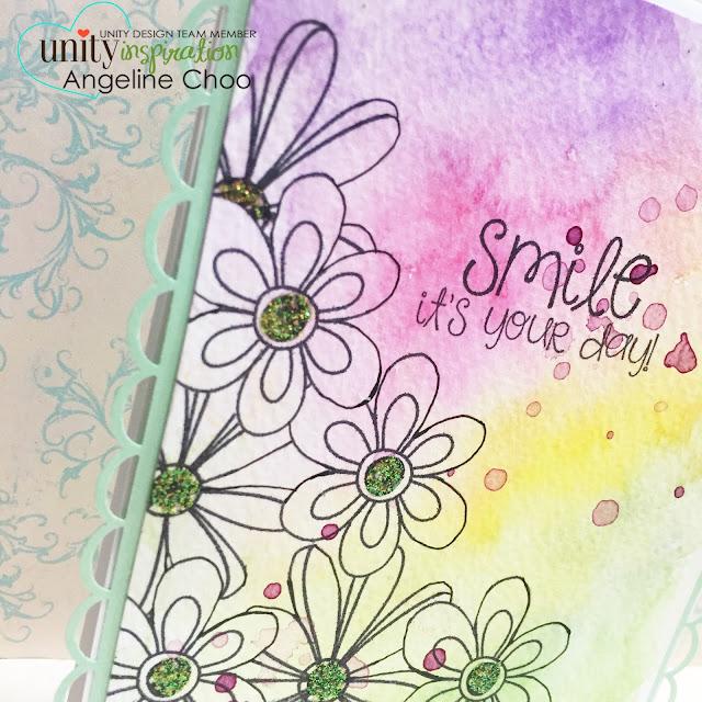 ScrappyScrappy: Smile it's your day #scrappyscrappy #unitystampco #card #stamp #watercolor #gansaitambi